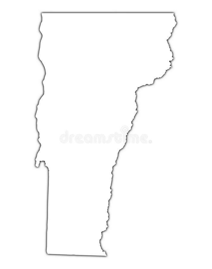 Correspondencia del esquema de Vermont (los E.E.U.U.) ilustración del vector
