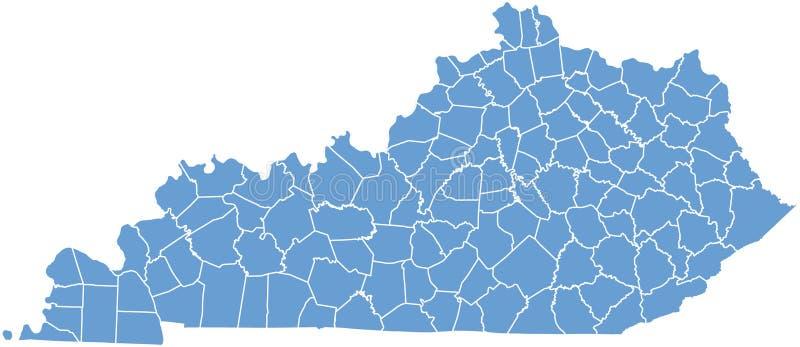 Correspondencia del estado de Kentucky por los condados libre illustration