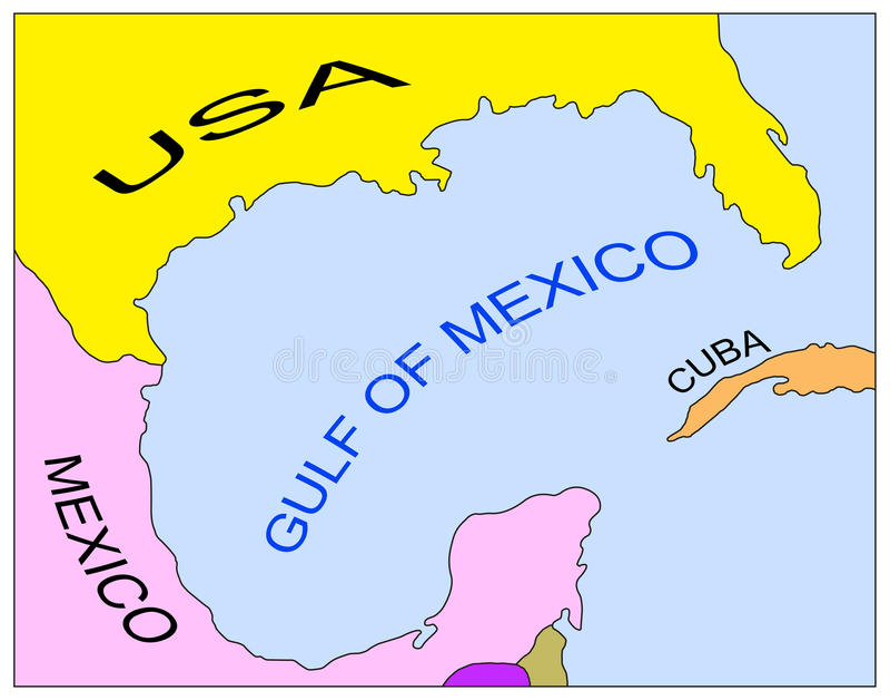 Correspondencia del golfo de México fotos de archivo libres de regalías
