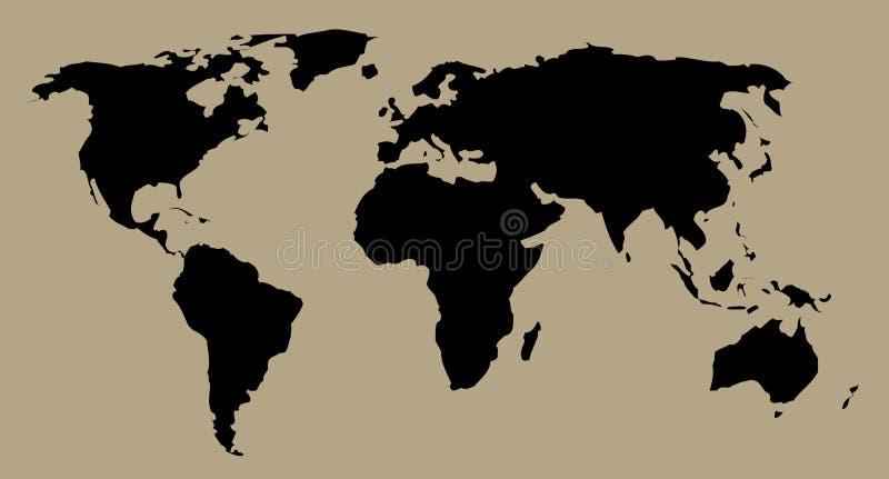 Correspondencia del mundo ilustración del vector