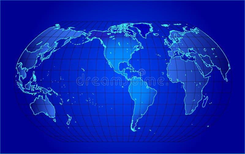 Correspondencia del mundo - ilustración del vector ilustración del vector