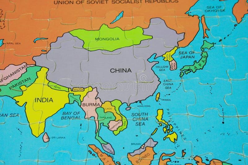 Correspondencia del rompecabezas (Asia) foto de archivo libre de regalías