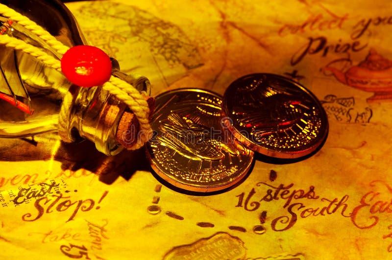 Correspondencia del tesoro foto de archivo libre de regalías