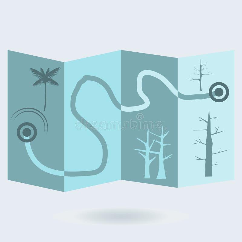 Correspondencia del tesoro ilustración del vector