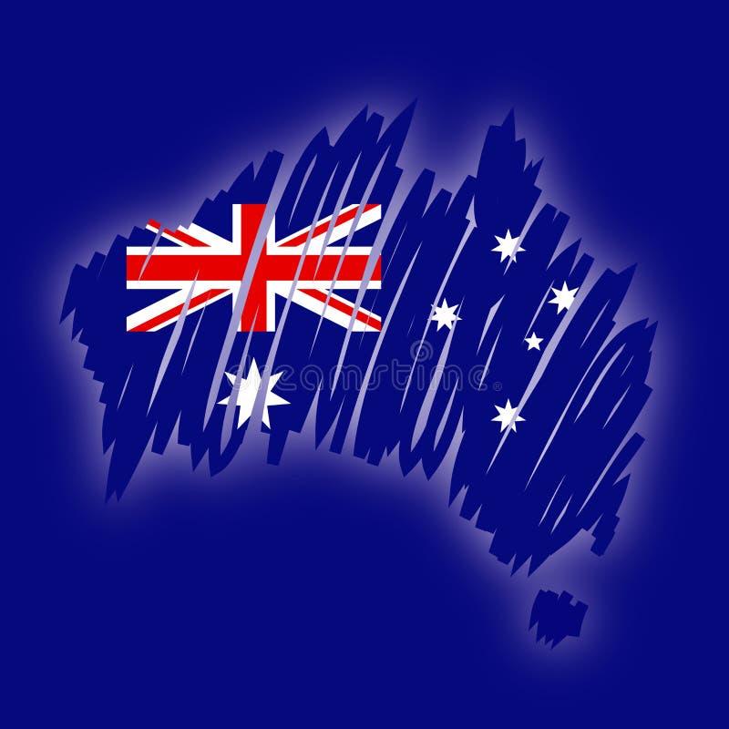 Correspondencia del vector de la Australia ilustración del vector