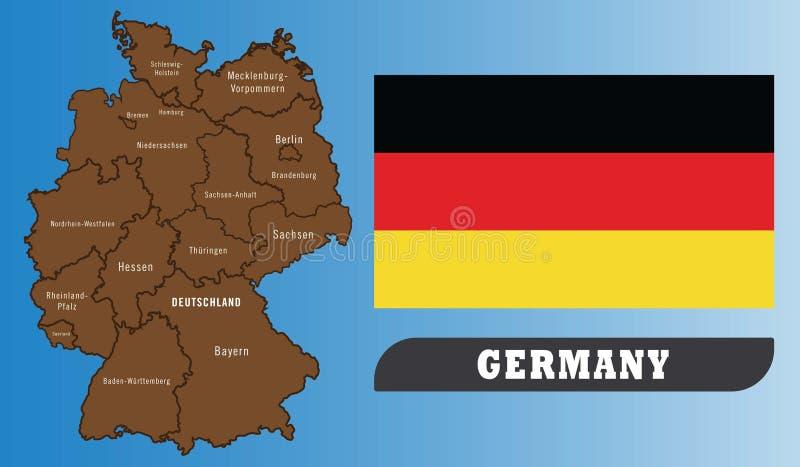 Correspondencia e indicador de Alemania stock de ilustración