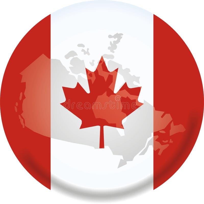 Correspondencia e indicador de Canadá ilustración del vector