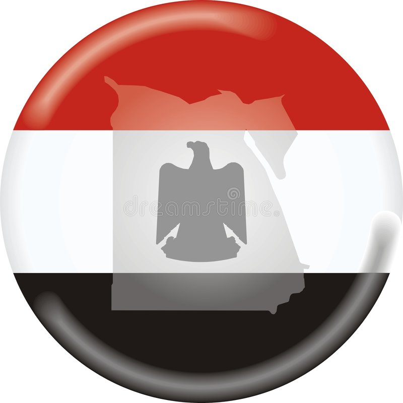 Correspondencia e indicador de Egipto stock de ilustración