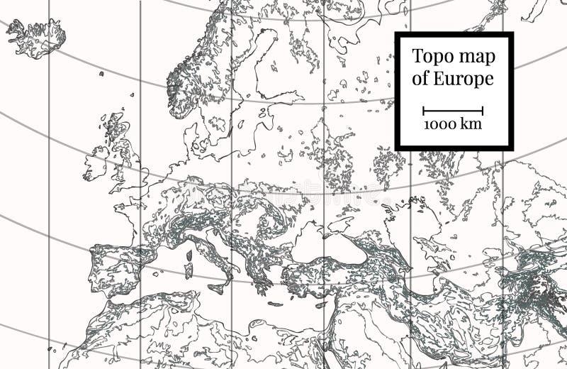 Correspondencia física de Europa Ejemplo altamente detallado libre illustration