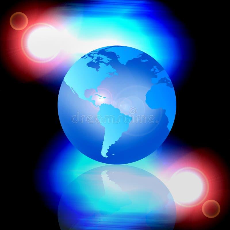 Correspondencia o globo de mundo stock de ilustración