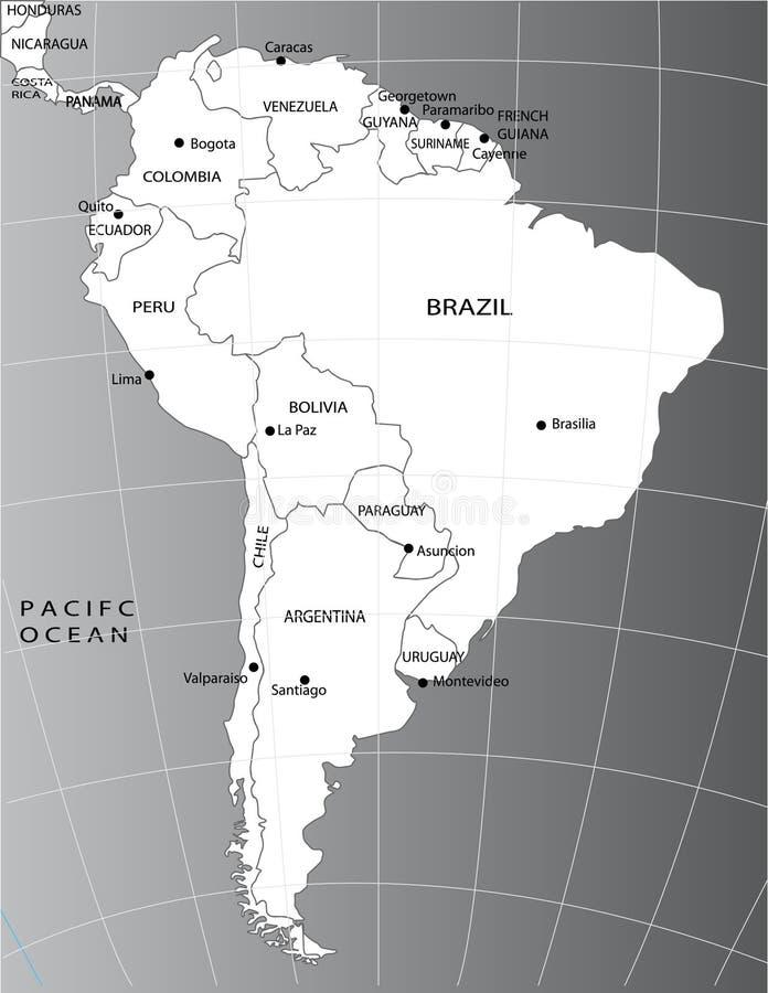 Correspondencia política de Suramérica libre illustration