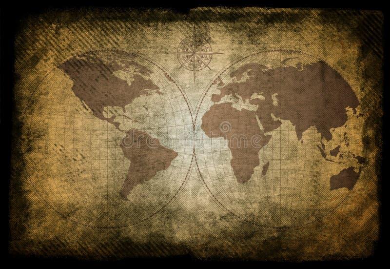 Mapa viejo stock de ilustración