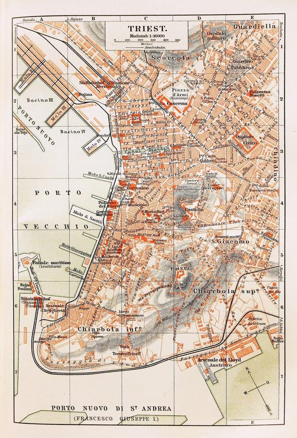 Correspondencia vieja de Trieste imagenes de archivo