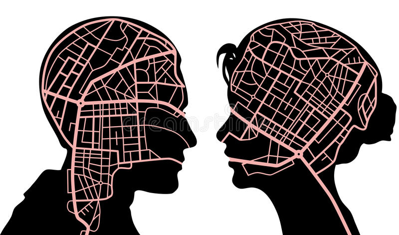 Correspondencias de mente ilustración del vector