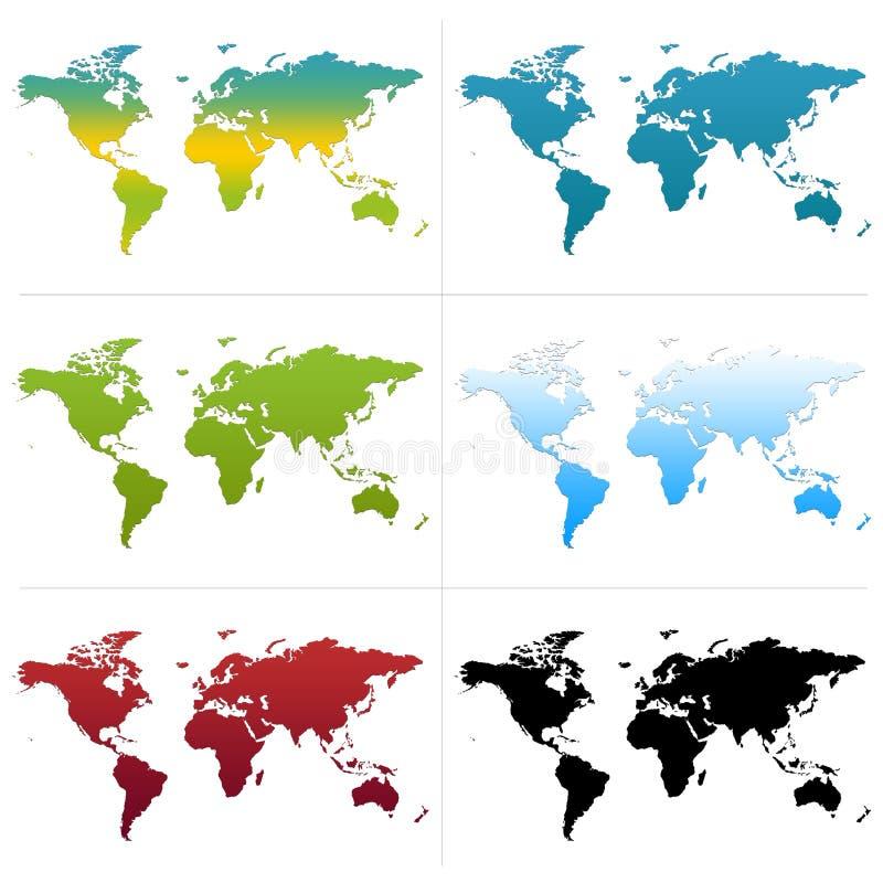 Correspondencias de mundo ilustración del vector