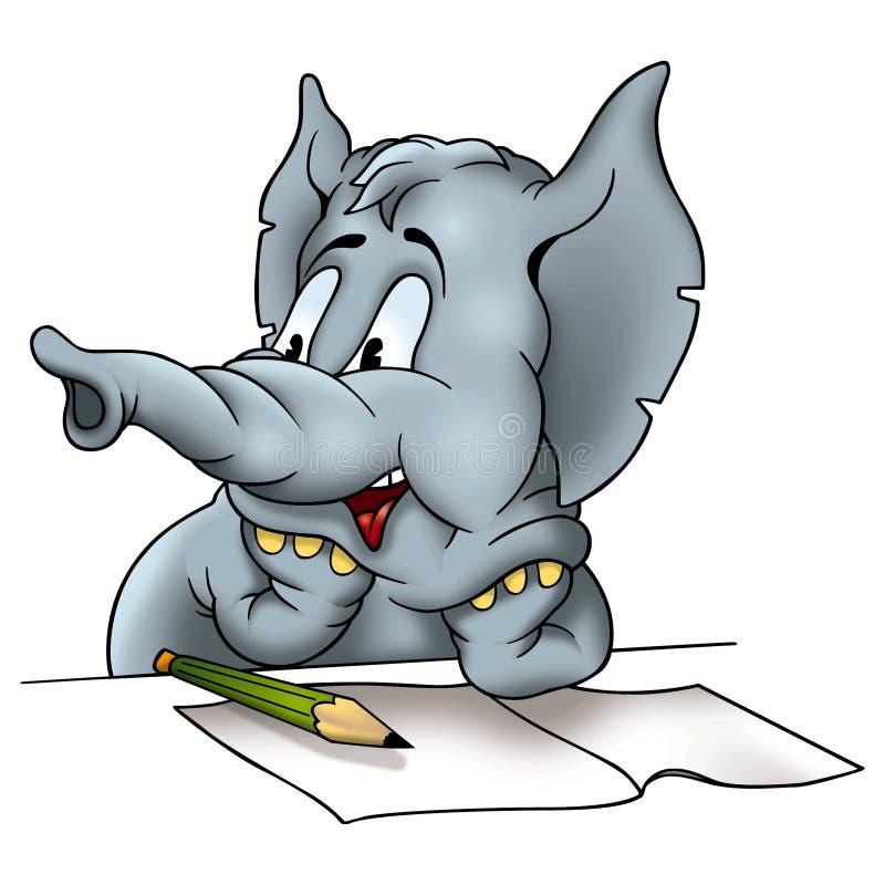 Correspondente do elefante ilustração do vetor