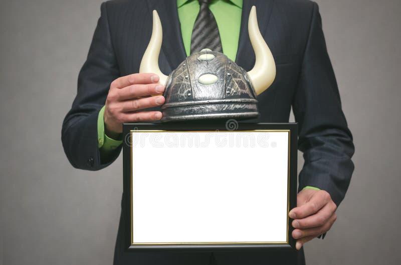 Corretor conservado em estoque de Bull Conceito do mercado em alta fotografia de stock royalty free