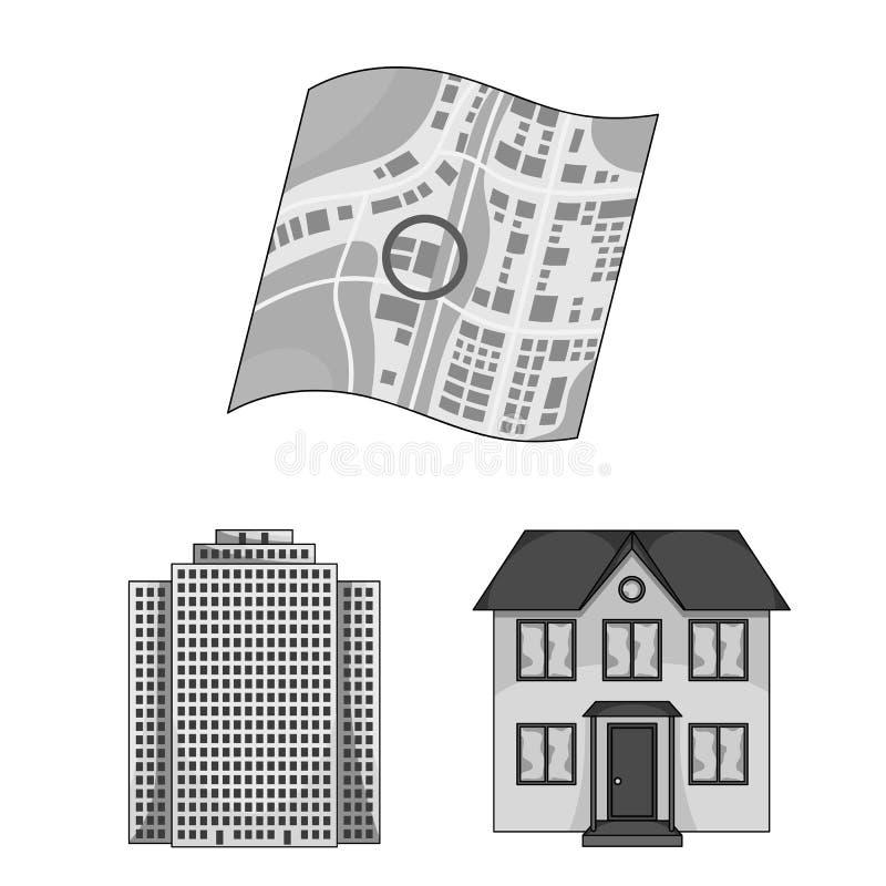 Corretor de imóveis, ícones monocromáticos da agência na coleção do grupo para o projeto Comprando e vendendo bens imobiliários v ilustração do vetor