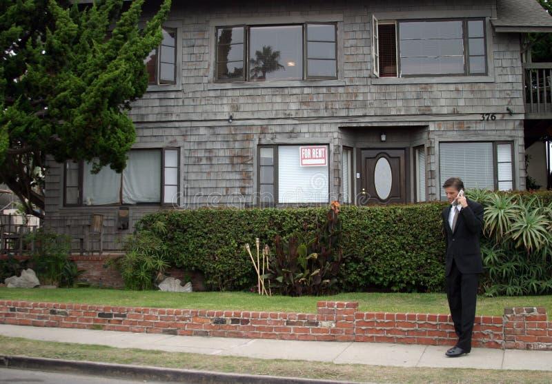Corretor de imóveis, homem de negócio, série foto de stock