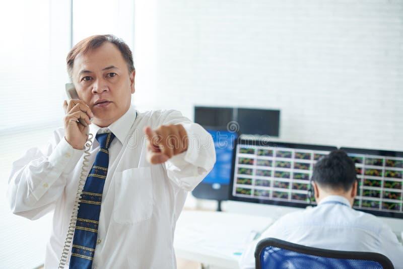Corretor profissional imagem de stock royalty free