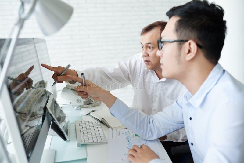 Corretores profissionais de trabalho imagem de stock