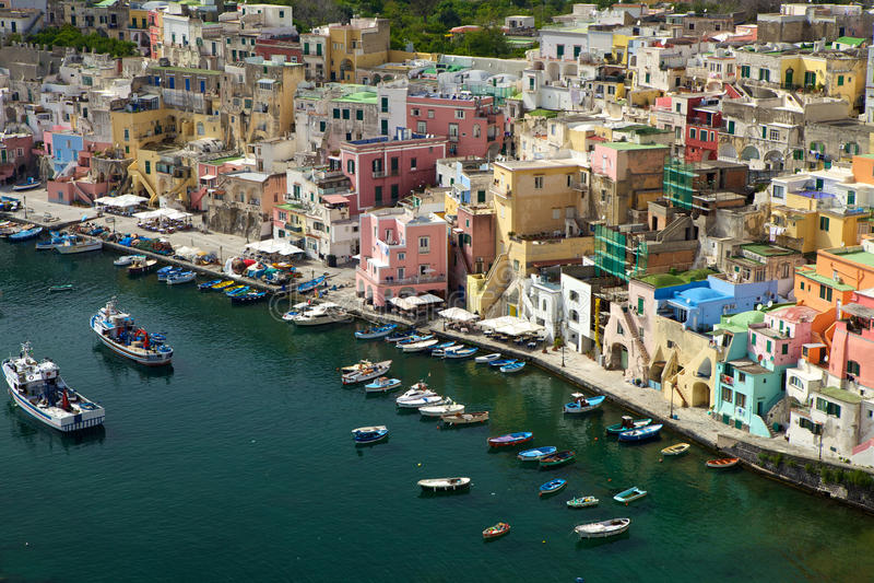 Corricella - Procida Νάπολη στοκ φωτογραφίες με δικαίωμα ελεύθερης χρήσης