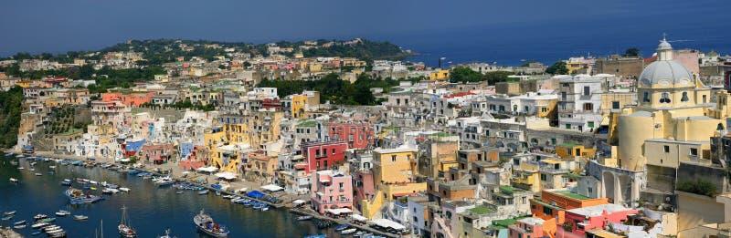 Corricella - Procida, Nápoles - Italia fotos de archivo libres de regalías