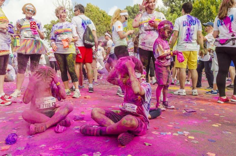 A corrida Bucareste da cor fotografia de stock