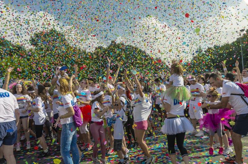A corrida Bucareste da cor imagem de stock royalty free