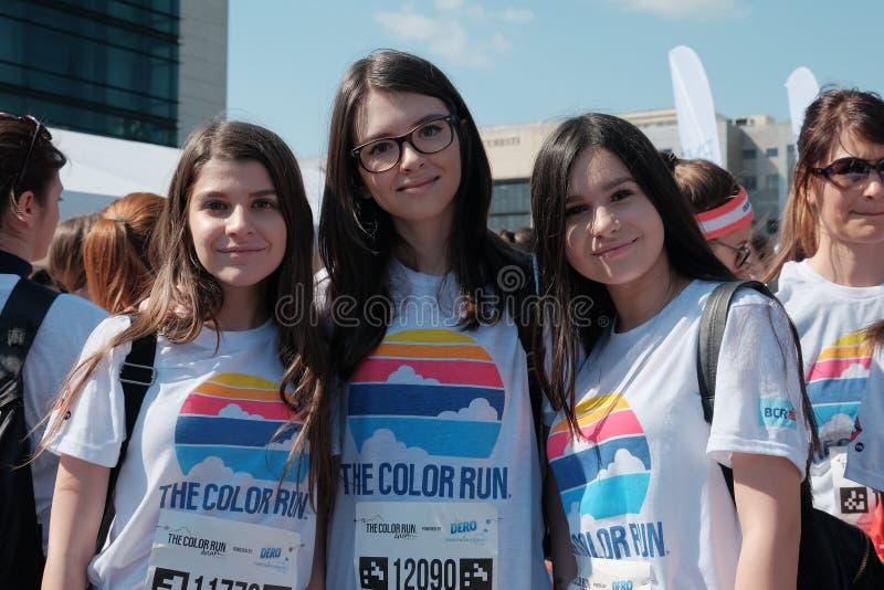 A corrida 2017 da cor em Bucareste, Romênia fotografia de stock royalty free
