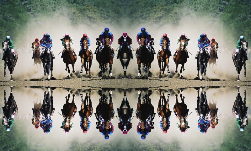 Corrida de cavalos em Pyatigorsk fotografia de stock royalty free