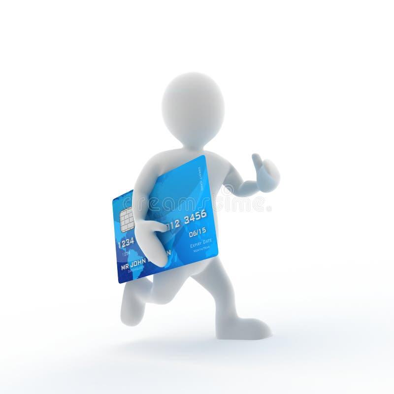 Corrida de la tarjeta de crédito libre illustration