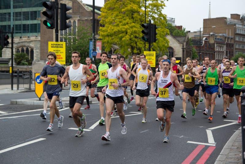 Corrida del maratón imagen de archivo libre de regalías