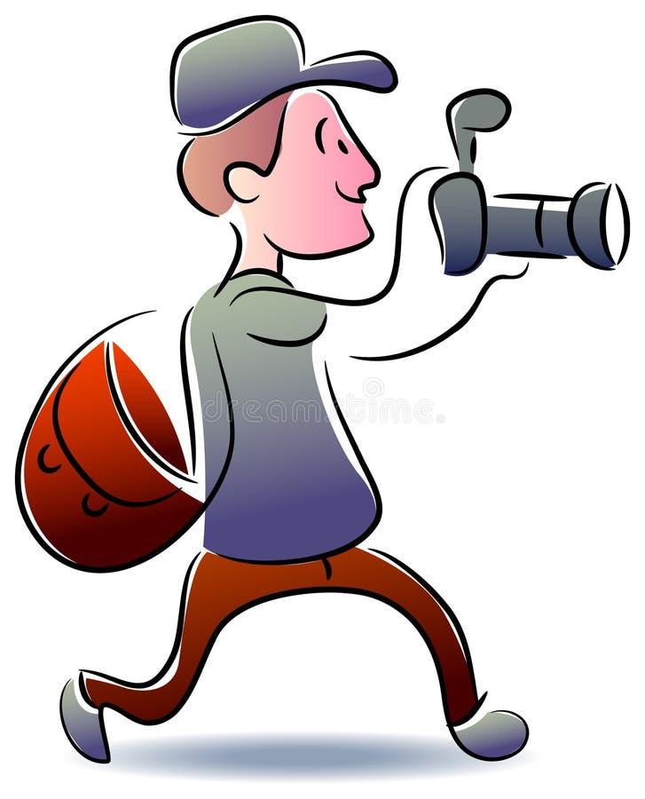 Corrida do fotógrafo ilustração stock