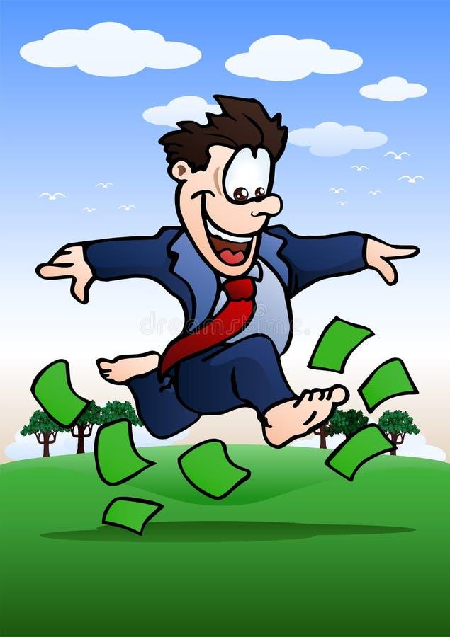 Corrida sobre o dinheiro ilustração do vetor