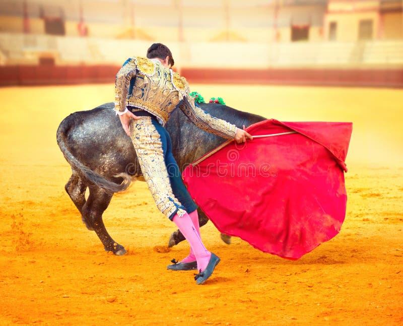 Corrida. Spansk tjurfäktning arkivbild
