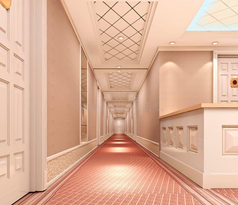 corridoio 3d illustrazione di stock