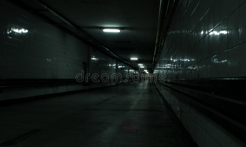 Corridoio abbandonato immagine stock