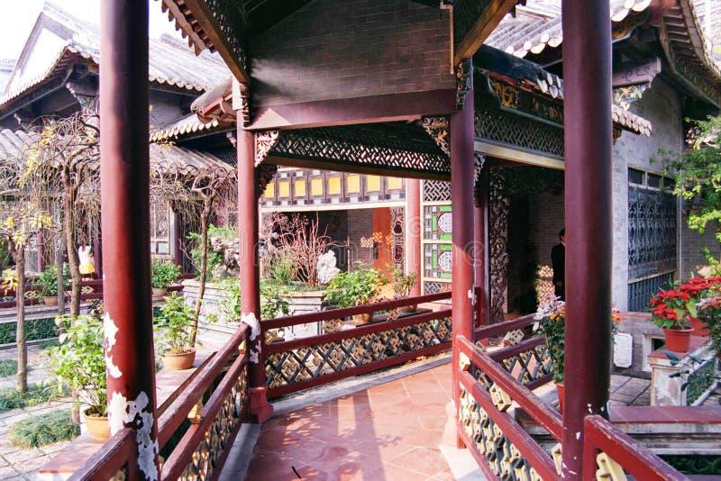 Corridoio antico del giardino fotografie stock