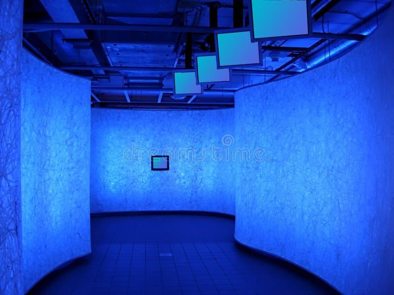 Corridoio blu immagine stock
