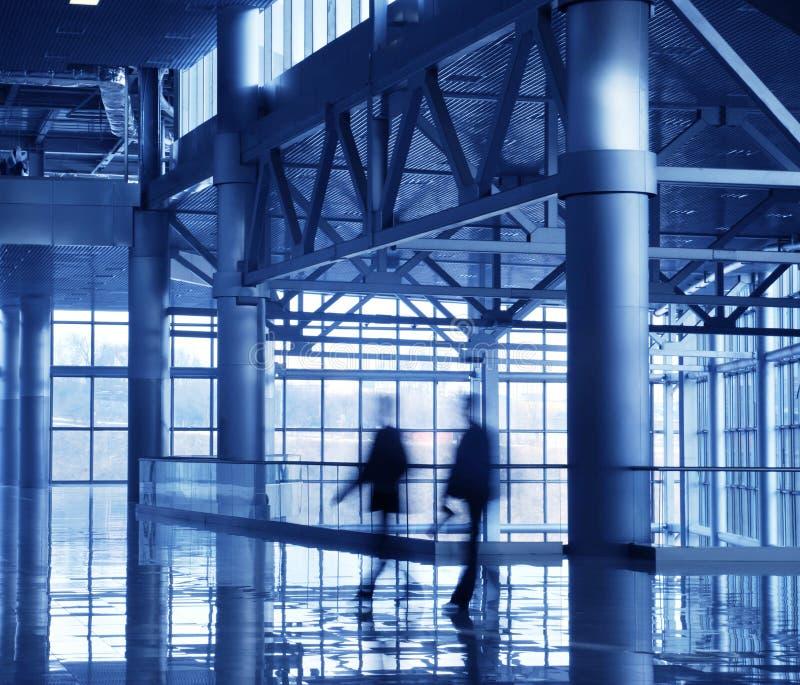corridoio blu di affari fotografia stock libera da diritti