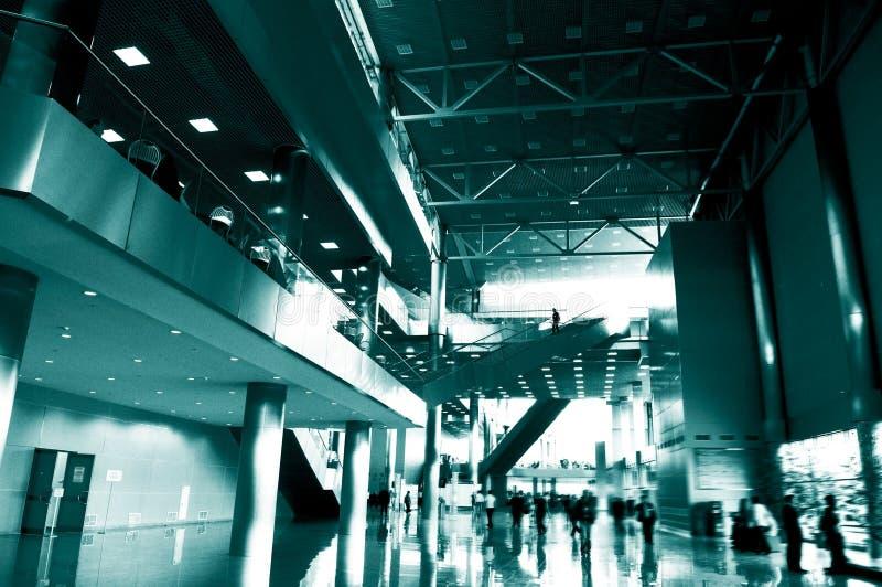 corridoio blu di affari immagini stock