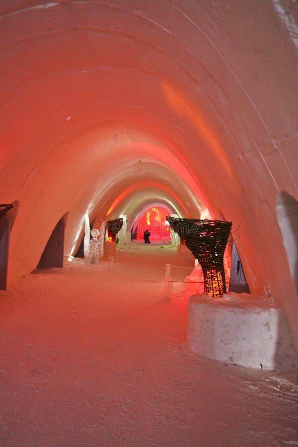 Corridoio Colorfully illuminato immagini stock libere da diritti