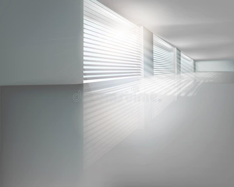 Corridoio con i ciechi. Illustrazione di vettore. illustrazione vettoriale