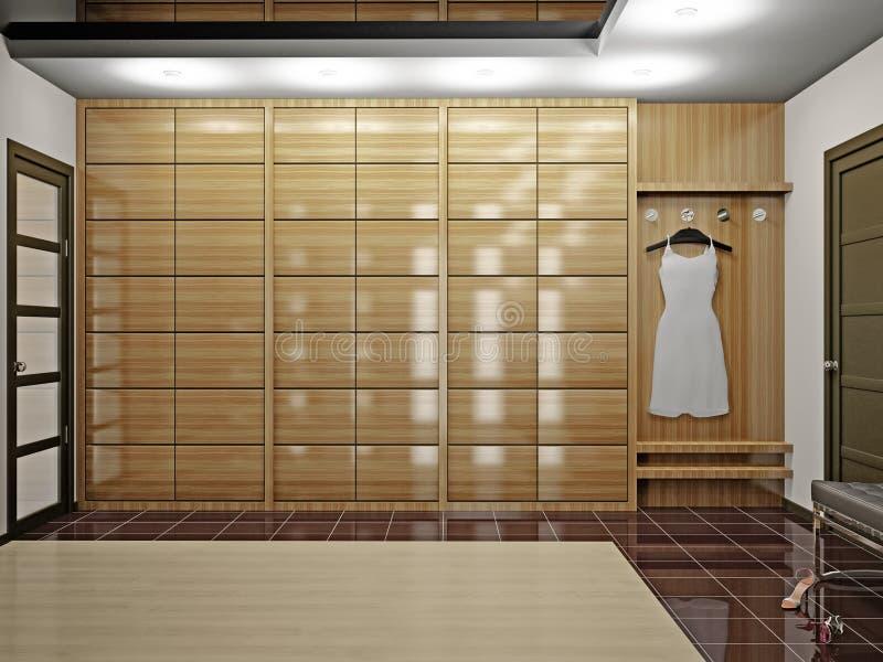 Corridoio con il guardaroba royalty illustrazione gratis