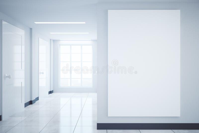 Corridoio con l'insegna in bianco illustrazione vettoriale