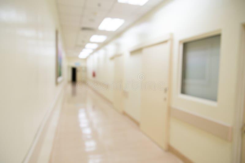 Corridoio Defocused dell'ospedale fotografia stock libera da diritti