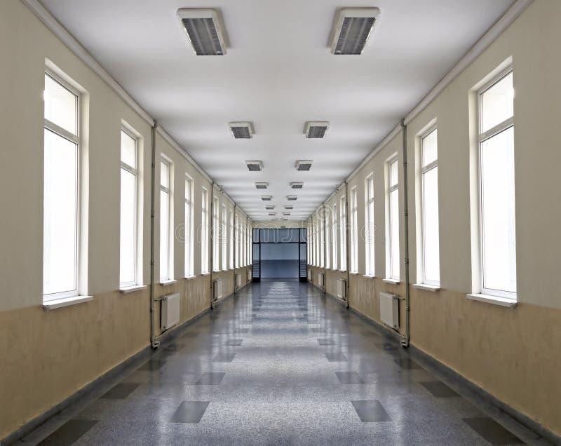 Corridoio del banco fotografia stock libera da diritti