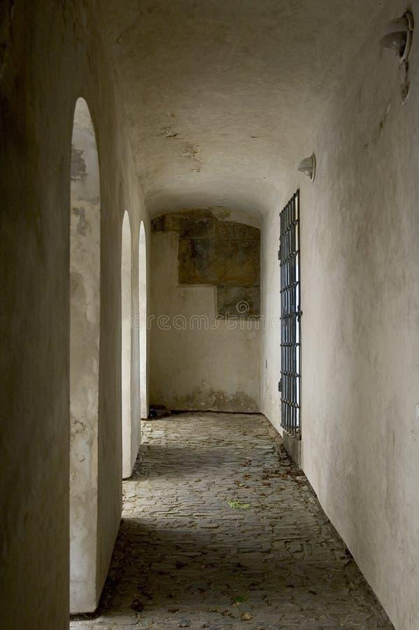 Corridoio del castello fotografia stock
