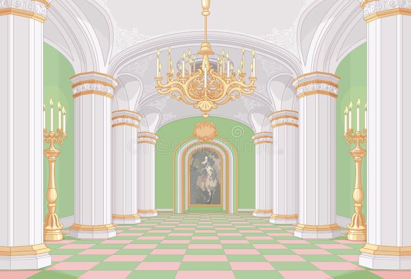 Corridoio del palazzo illustrazione vettoriale